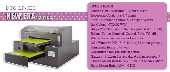 jual printer dtg a3