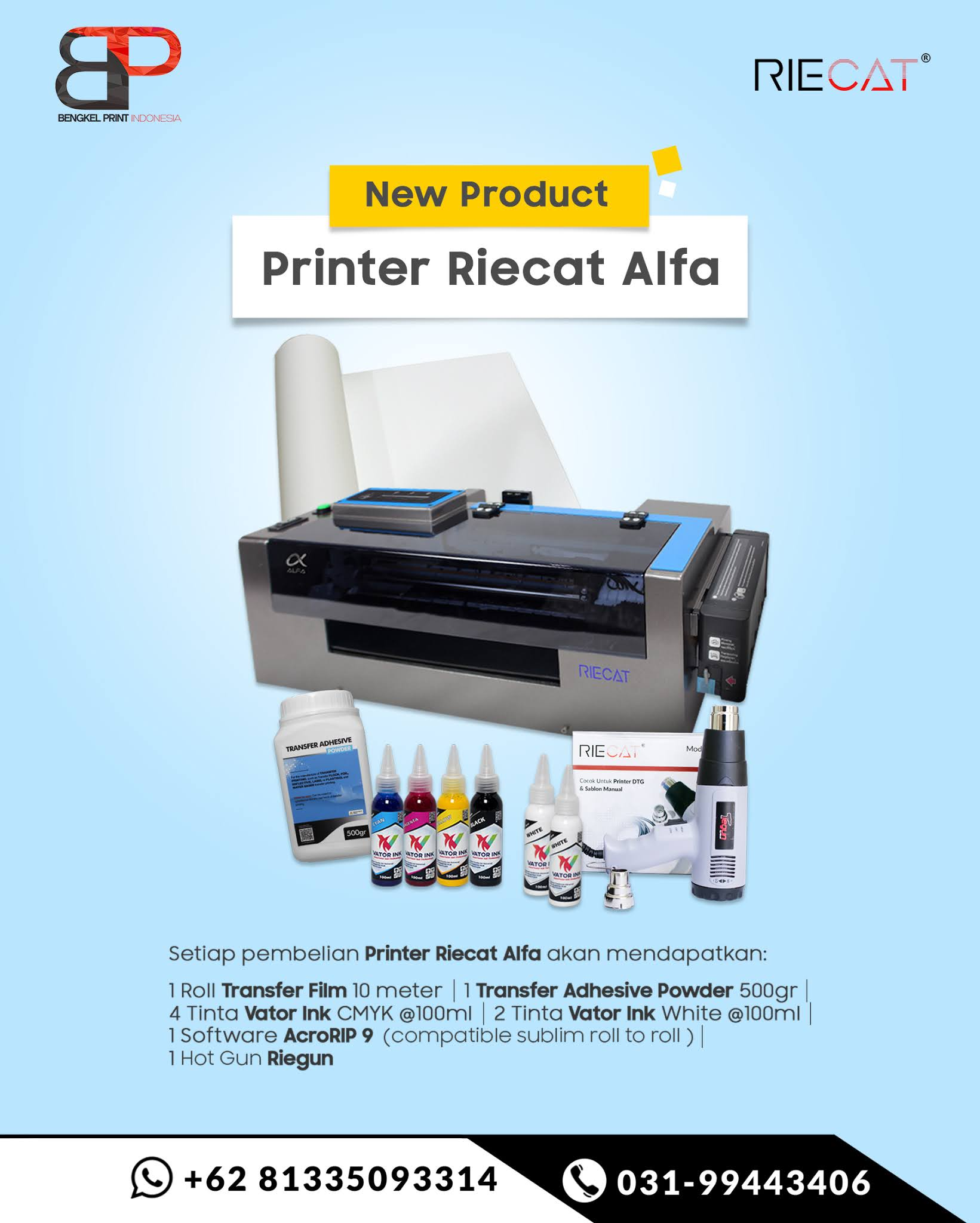 mesin printer riecat alfa murah