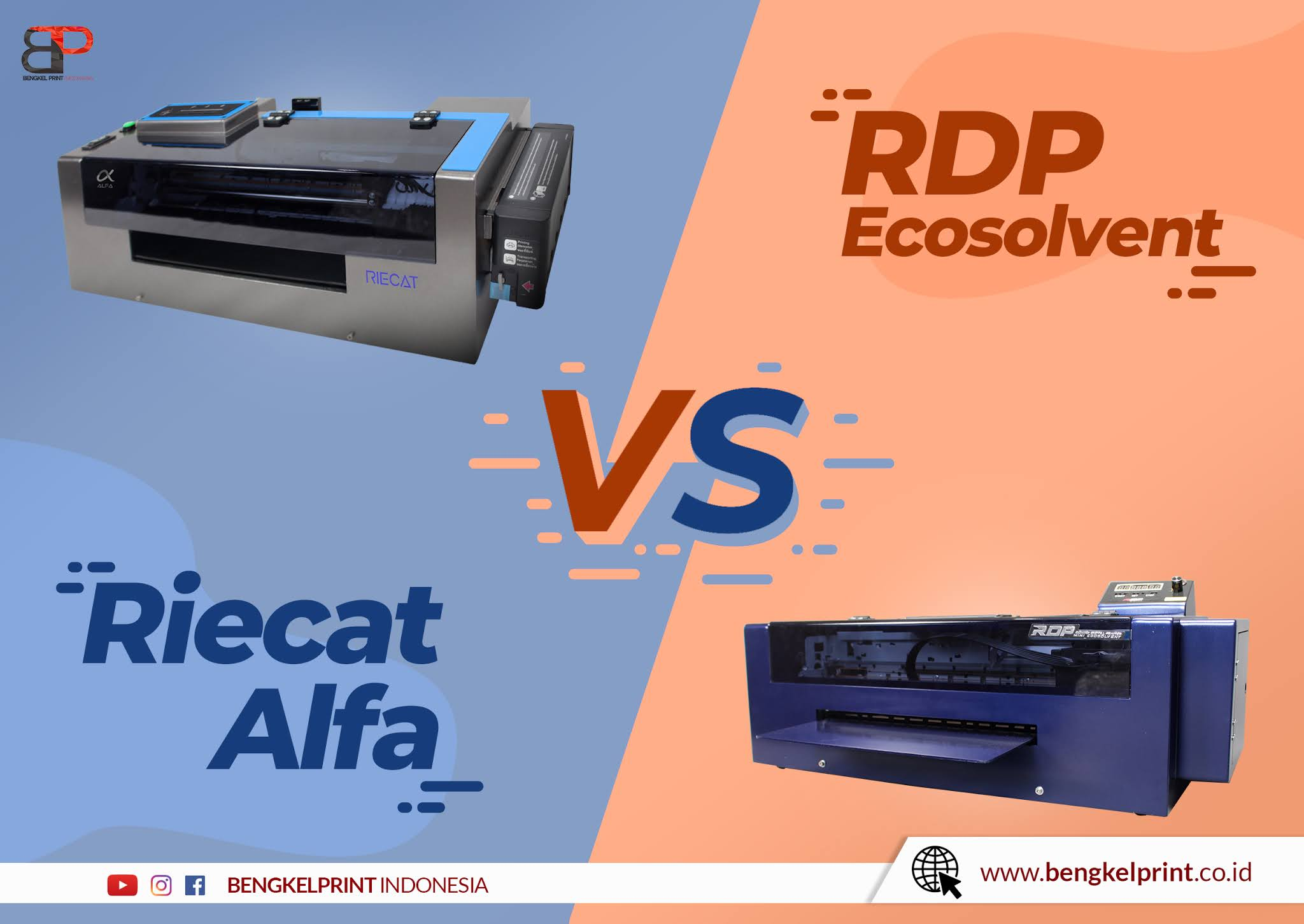 printer riecat alfa vs printer rdp ecosolvent