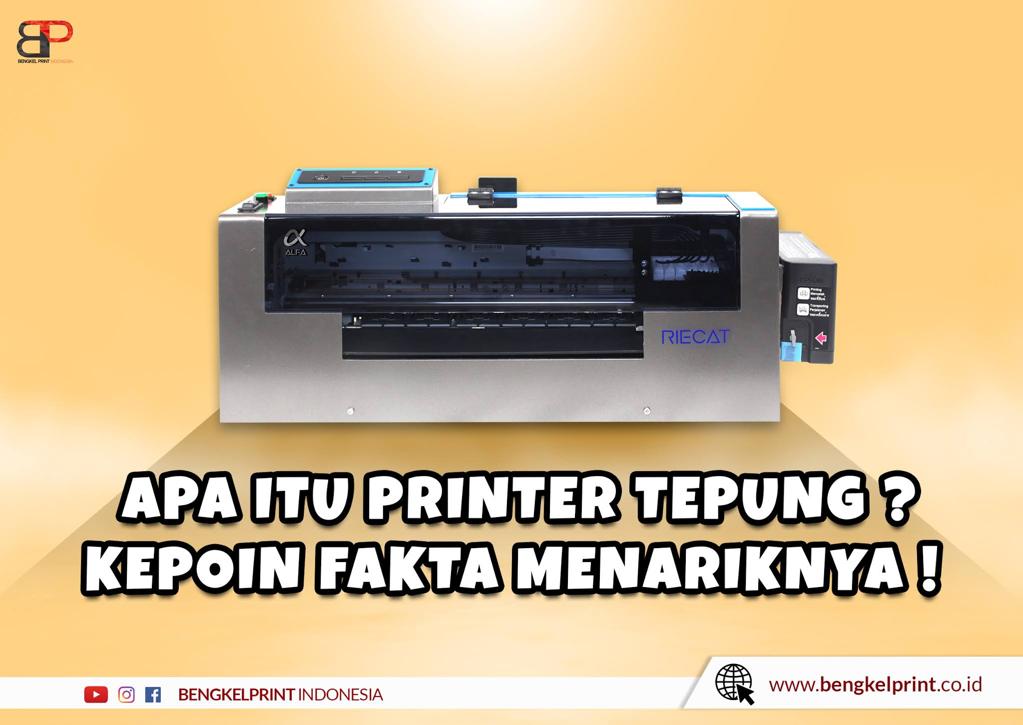 Mesin Printer Sablon Tepung
