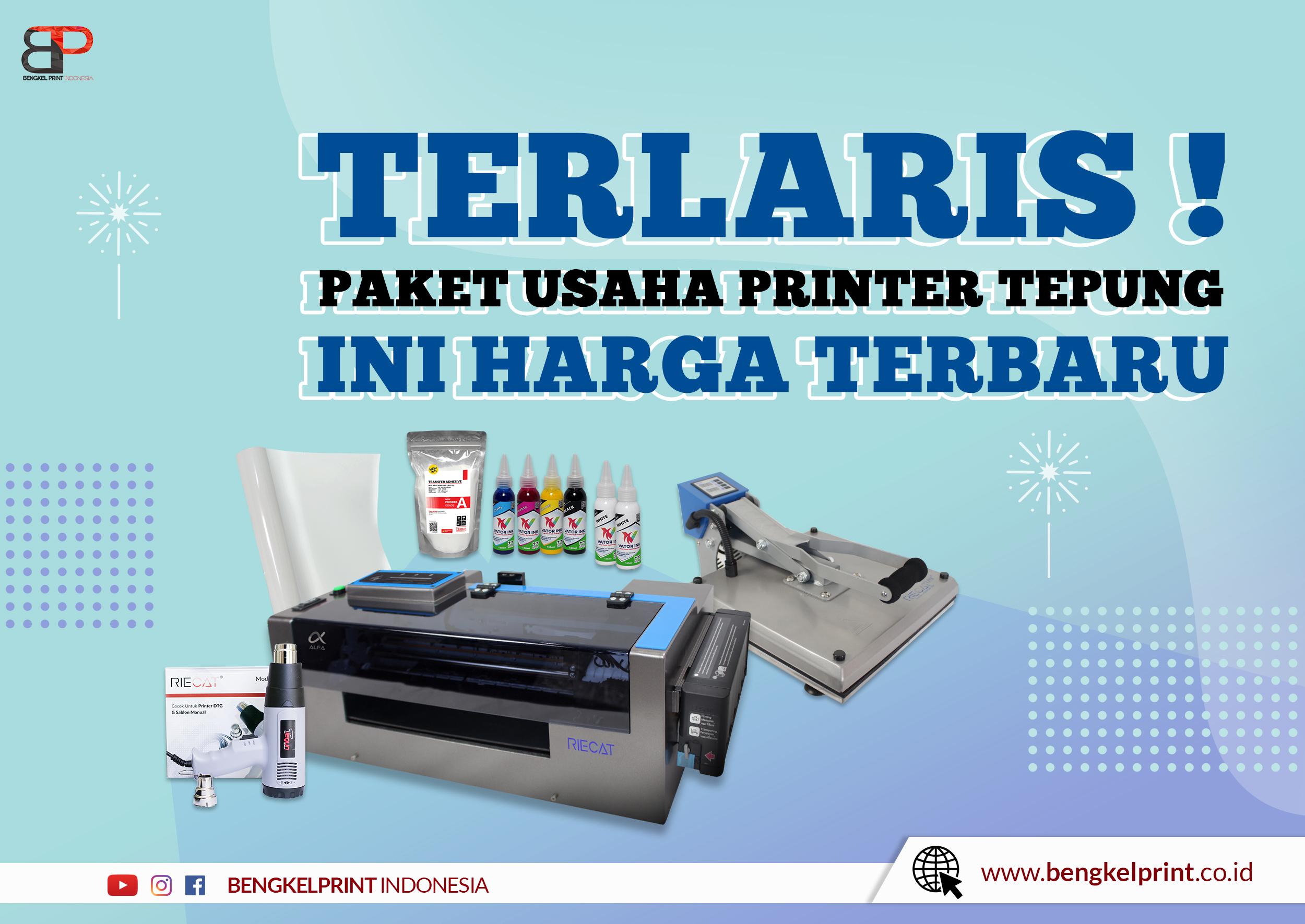 harga printer sablon tepung dtf murah 2021
