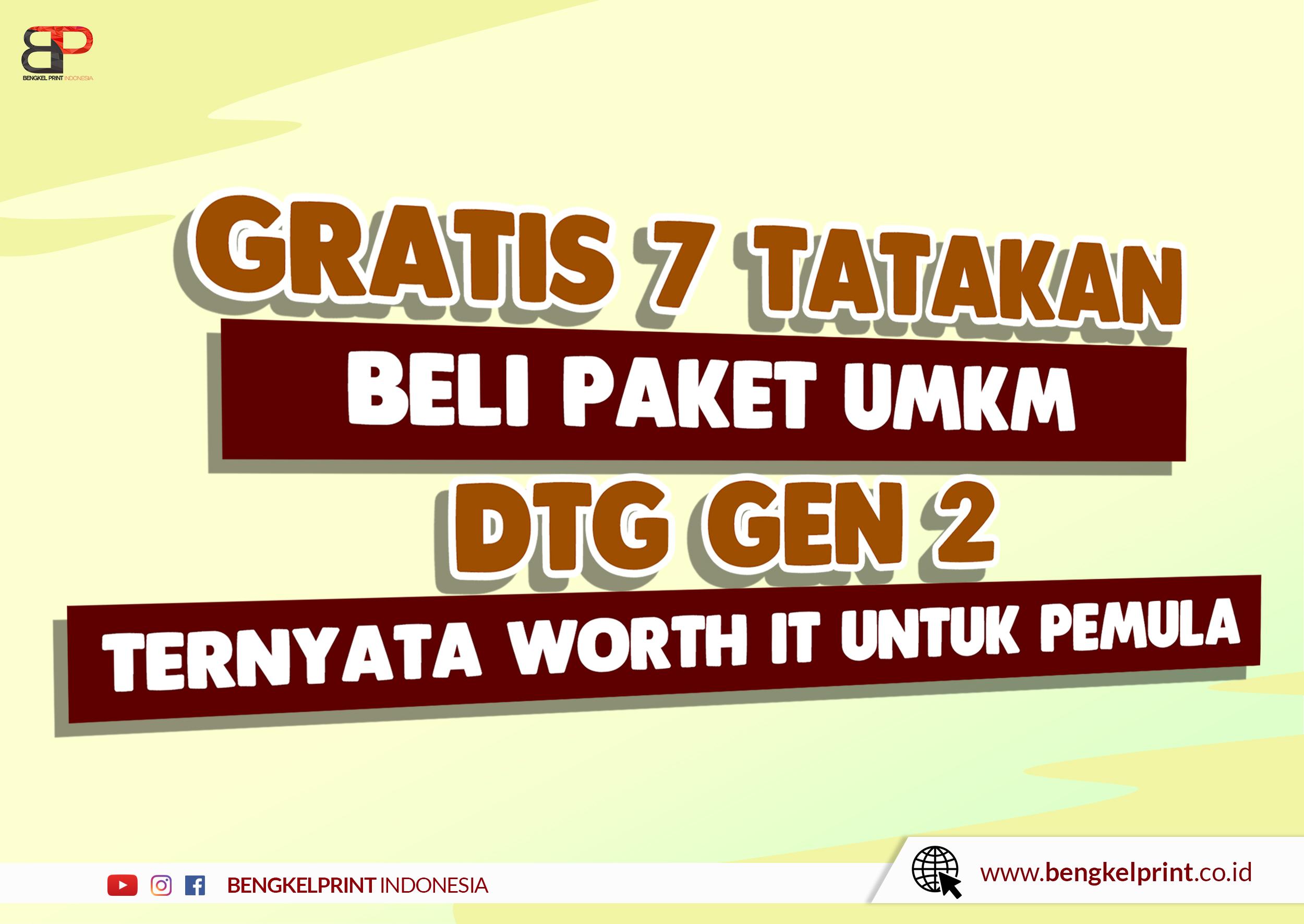 jual Paket Printer DTG Free 7 Tatakan