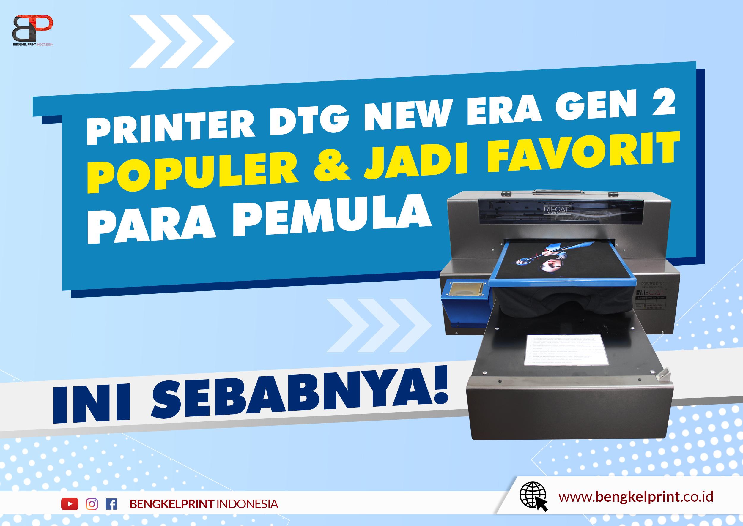 Spesifikasi Dan Fitur Printer DTG NEW ERA GEN 2