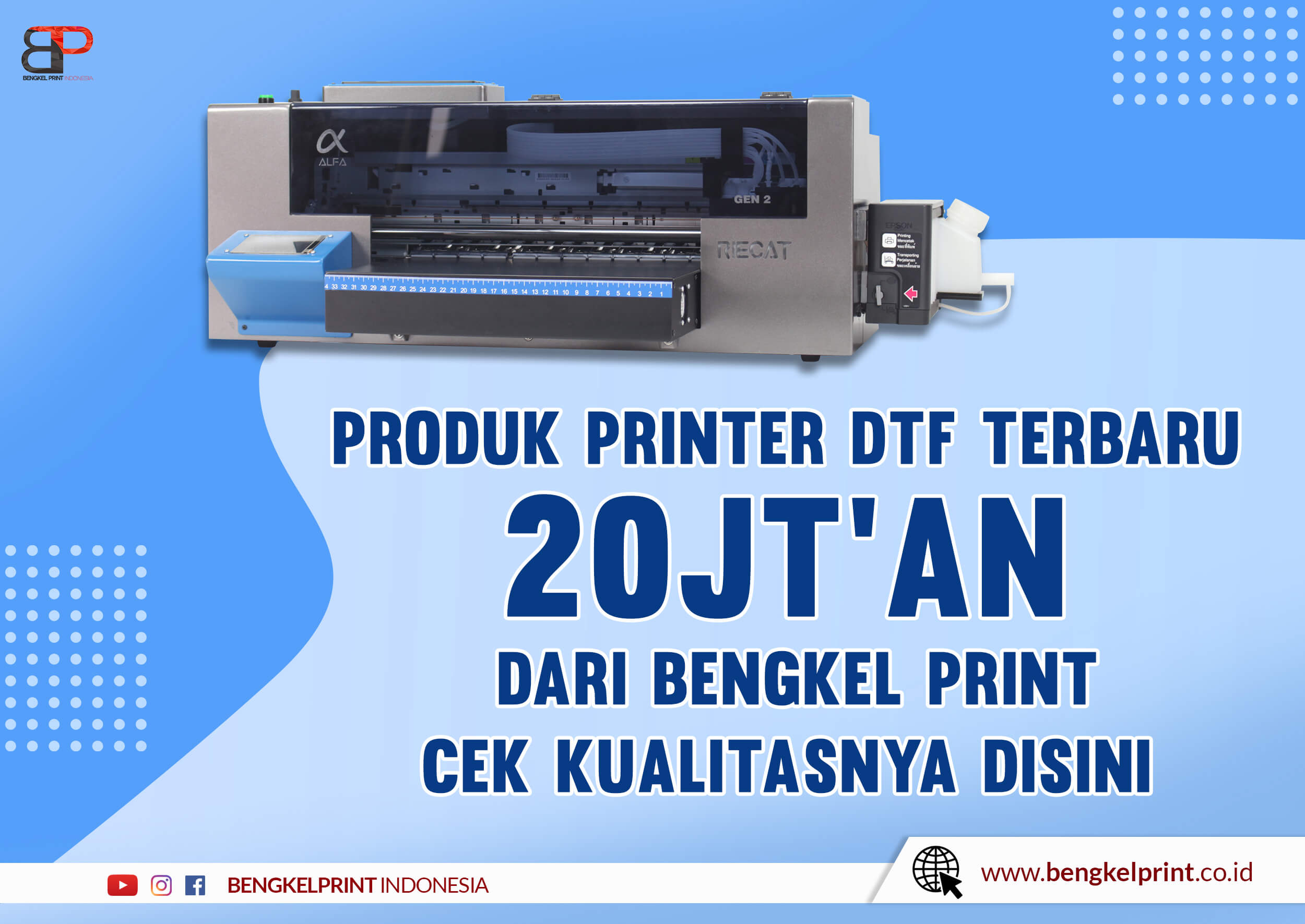 Jual Printer RIECAT ALFA GEN 2 FREE Paper Roll Holder murah