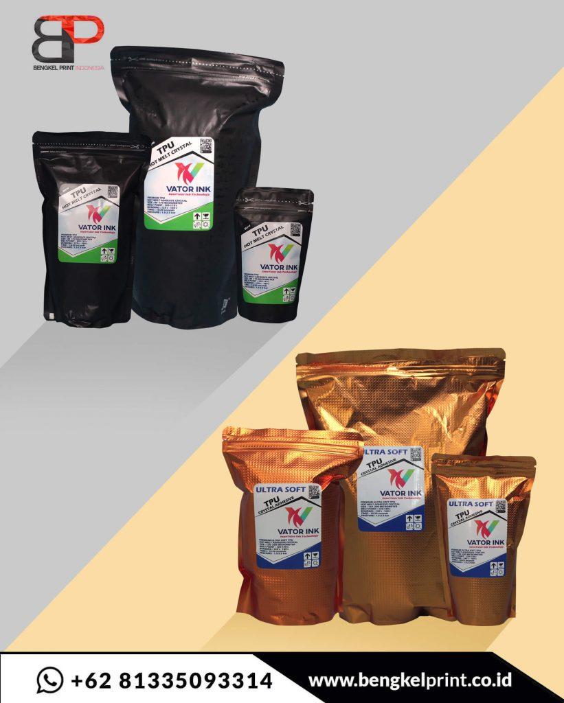 tepung dtf ultra soft dengan TPU Vator