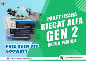 jual paket usaha DTG free oven dtf